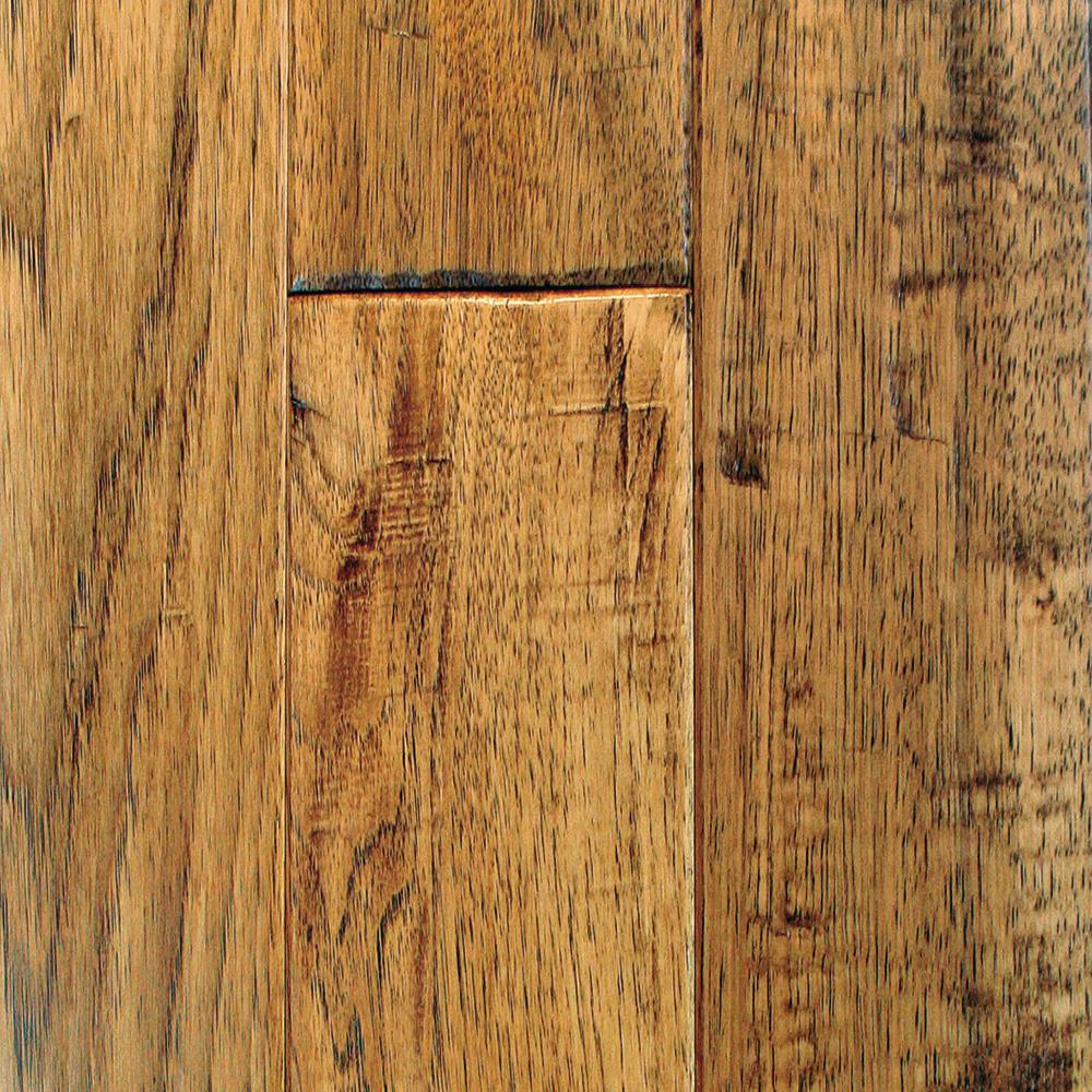 Blue Ridge Hardwood Flooring Hickory Vintage Barrel Solid Hardwood Flooring - 5 in. x 7 in. Take Home Sample
