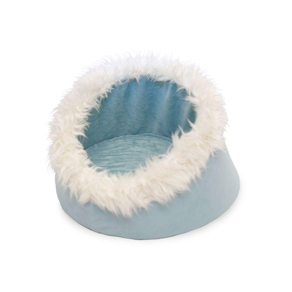 PAW PAW Small Blue Feline Cat Comfort Cavern Pet Bed