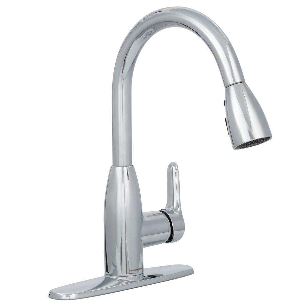 Colony Soft Single-Handle Pull-Down Sprayer Kitchen Faucet in Polished Chrome