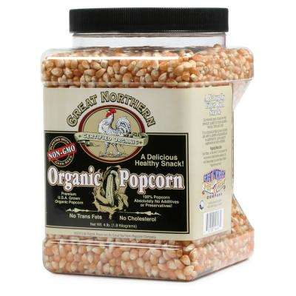 64 oz. All-Natural Organic Yellow Gourmet Popcorn