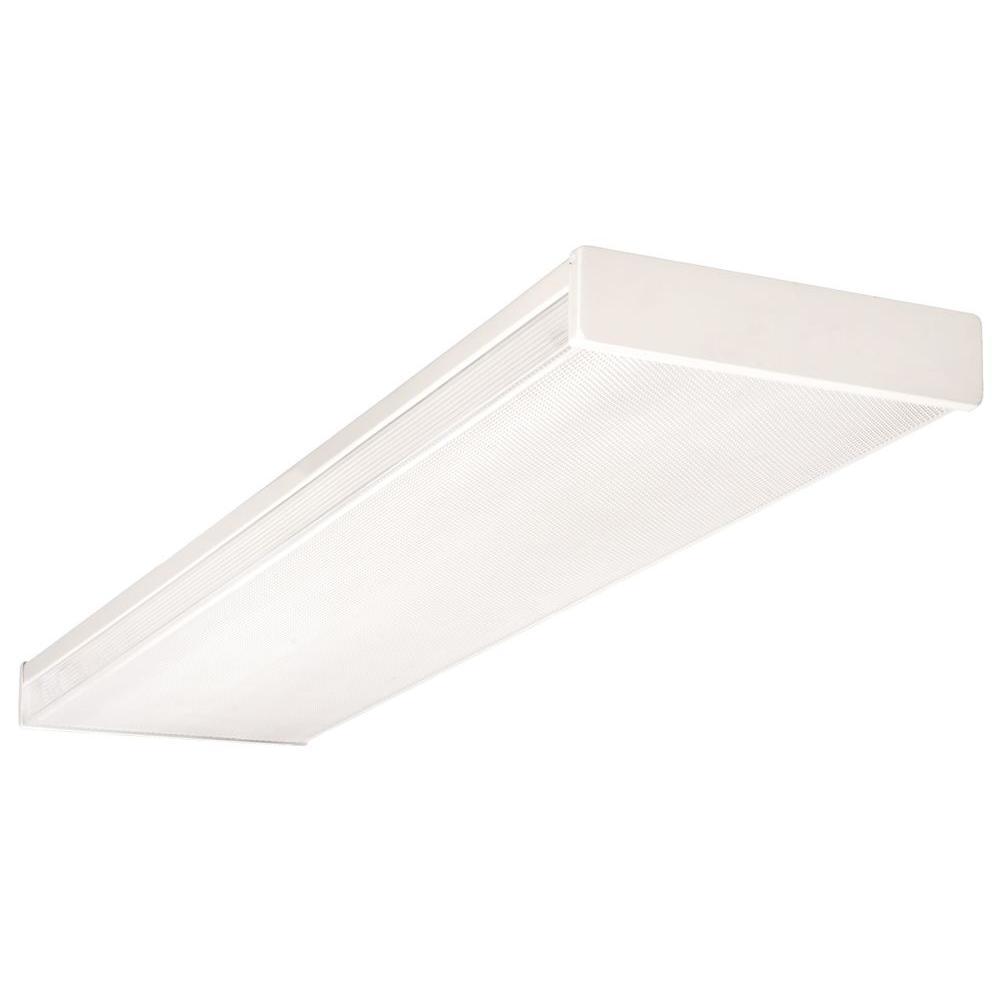 Fluorescent Light Fixture Flickering: Lithonia Lighting 4 Ft. Wraparound Fluorescent Fixture-LB