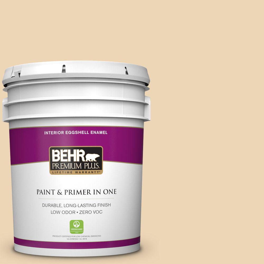 BEHR Premium Plus 5 gal. #330E-3 Sensible Hue Eggshell Enamel Zero VOC Interior Paint and Primer in One
