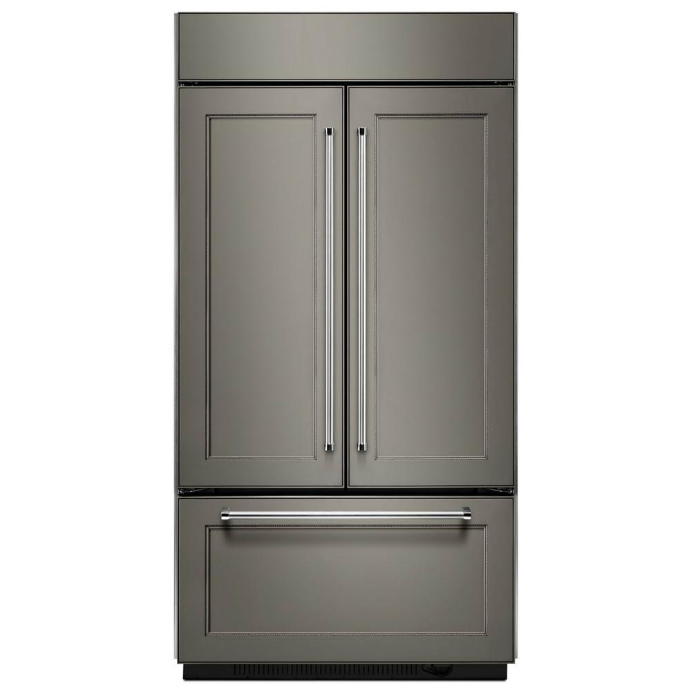 KitchenAid 24.2 cu. ft. Built-In French Door Refrigerator in Panel Ready,  Platinum Interior