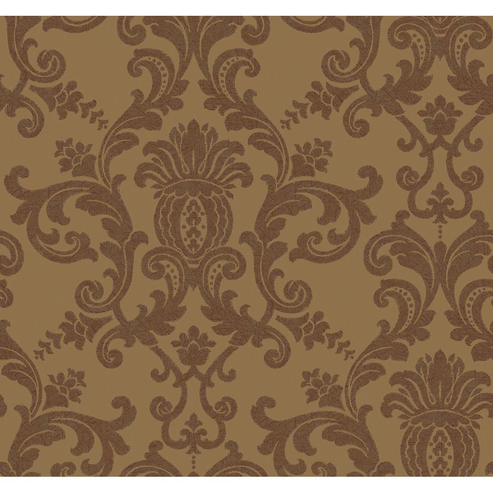 York Wallcoverings 60.75 sq. ft. Silk Damask Wallpaper