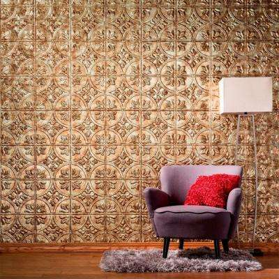 96 in. x 48 in. Traditional 2 Decorative Wall Panel in Bisque