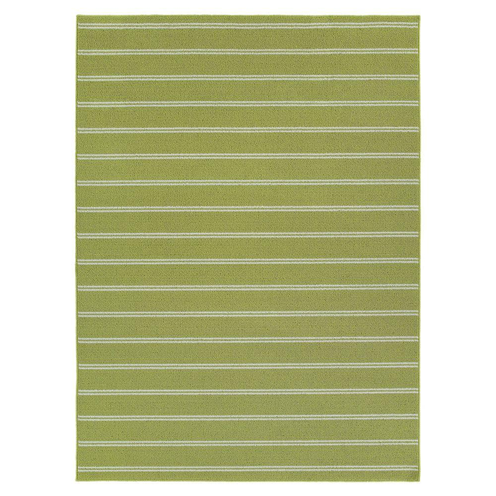 Garland Rug Avery Lime 5 ft. x7 ft. 6 in. Area Rug-DISCONTINUED