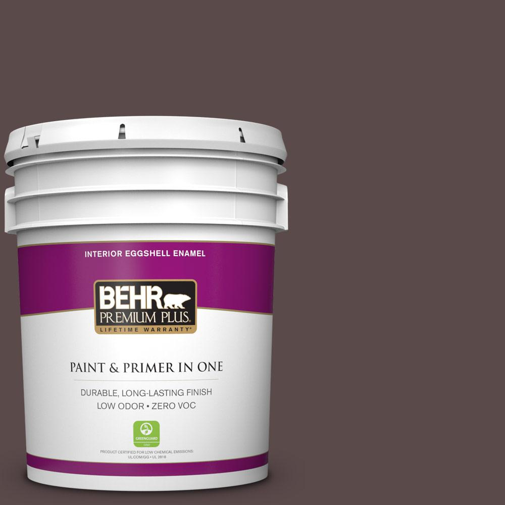 5 gal. #740B-7 Smooth Coffee Zero VOC Eggshell Enamel Interior Paint