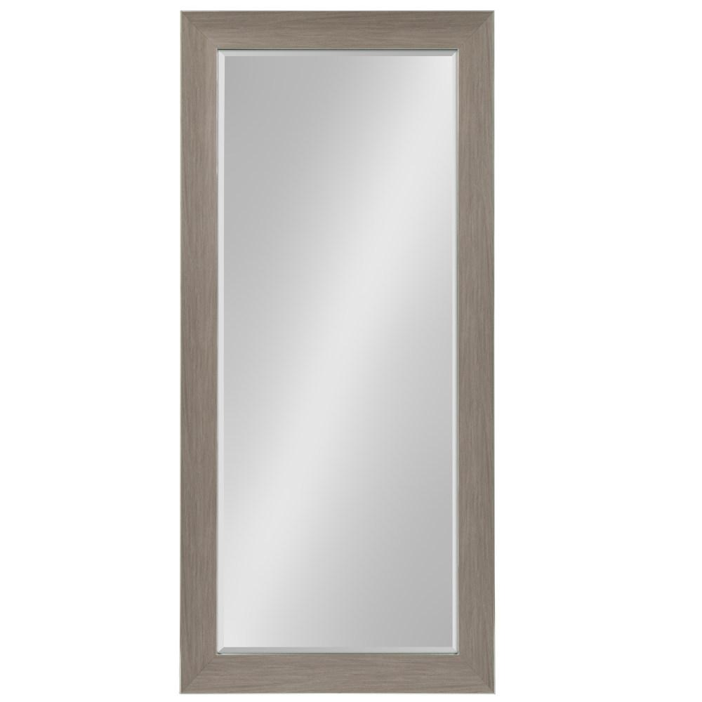 Tahoe Rectangle Gray Leaning Mirror
