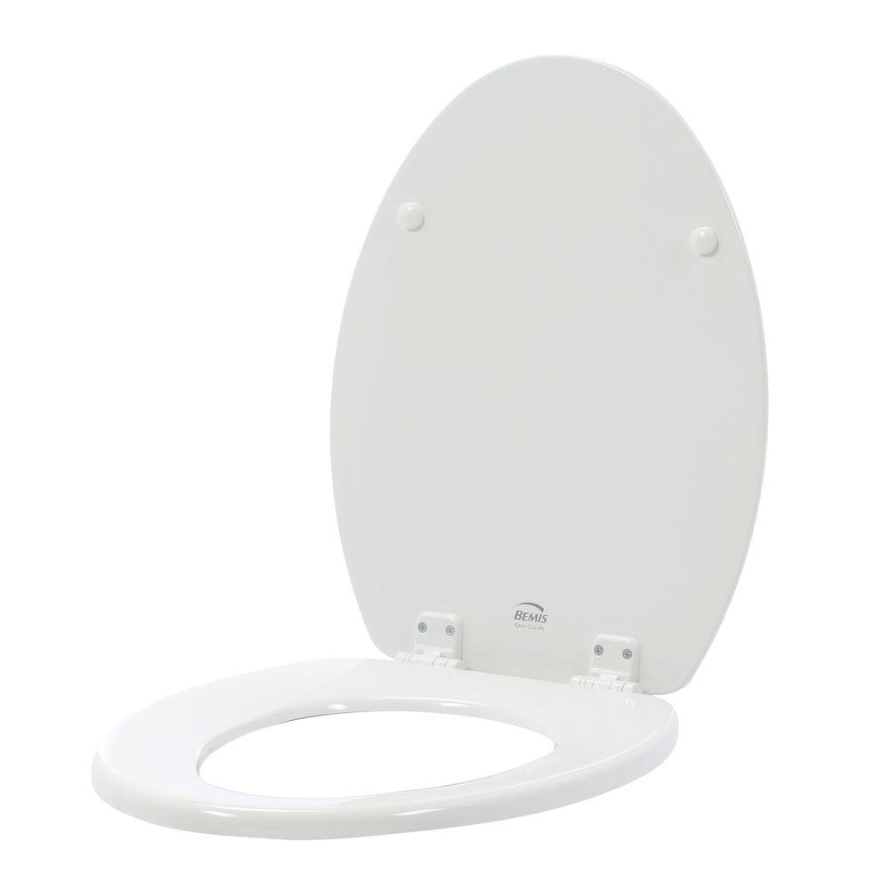 STA-TITE Sculptured Elongated Closed Front Toilet Seat in White