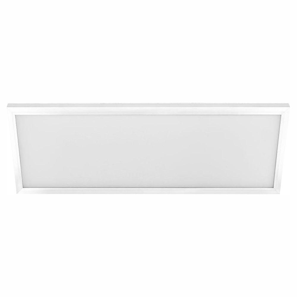 CommercialElectric Commercial Electric 1 ft. x 4 ft. 50-Watt White Integrated LED Edge-Lit Flat Panel Flush Mount Wraparound Light