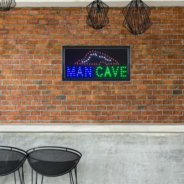 Lavish Home Neon LED Man Cave Sign with Animation HW1000014