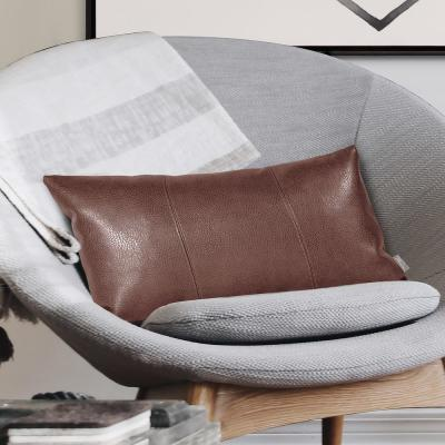 Avanti Pecan Brown Solid Polyester 5 in. x 22 in. Throw Pillow