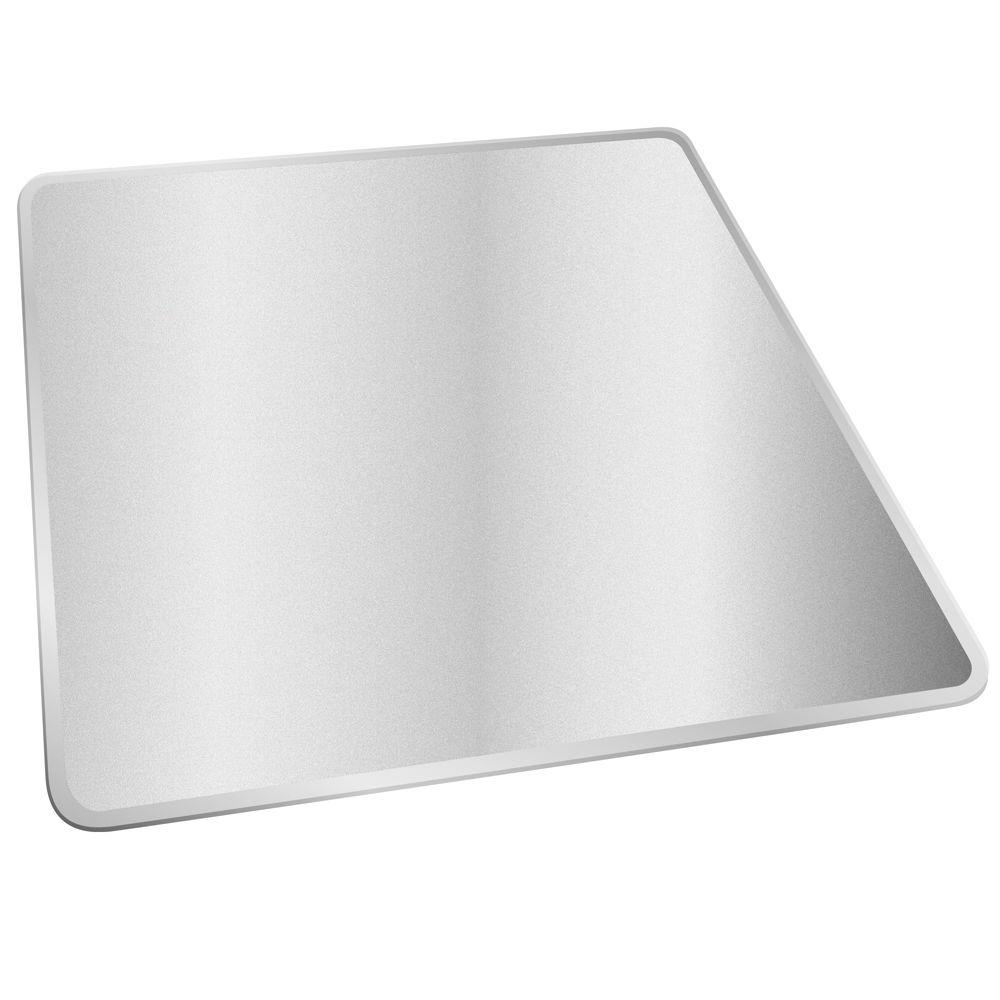 Deflect-o Medium Pile Clear 46 in. x 60 in. Vinyl SuperMat without Lip Chair Mat