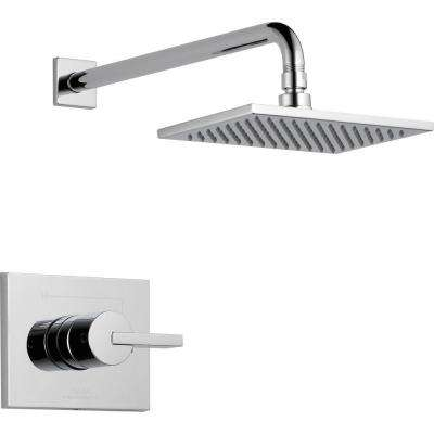 Vero 1-Handle 1-Spray Raincan Shower Faucet Trim Kit in Chrome (Valve Not Included)