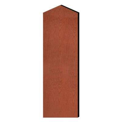Laminate Double End Side Panel for 21 in. D Extra Wide Designer Wood Locker with Sloping Hood in Cherry