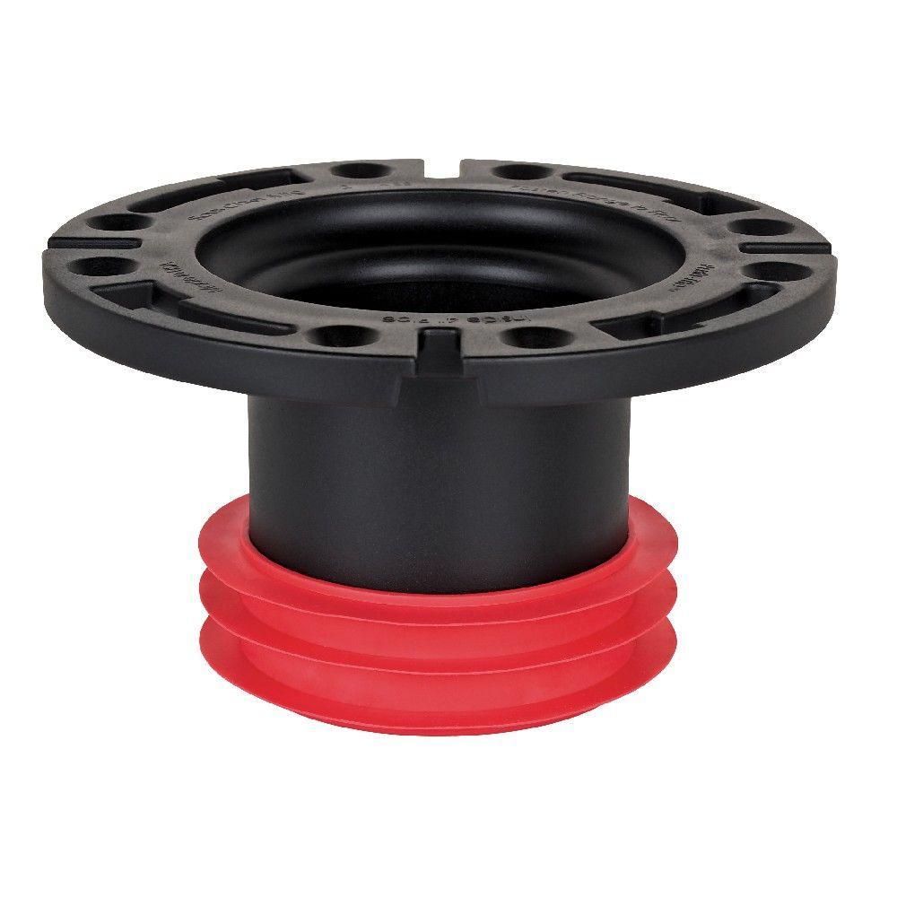 4 in. Black ABS Adjustable Ring Inside Fit Closet Flange