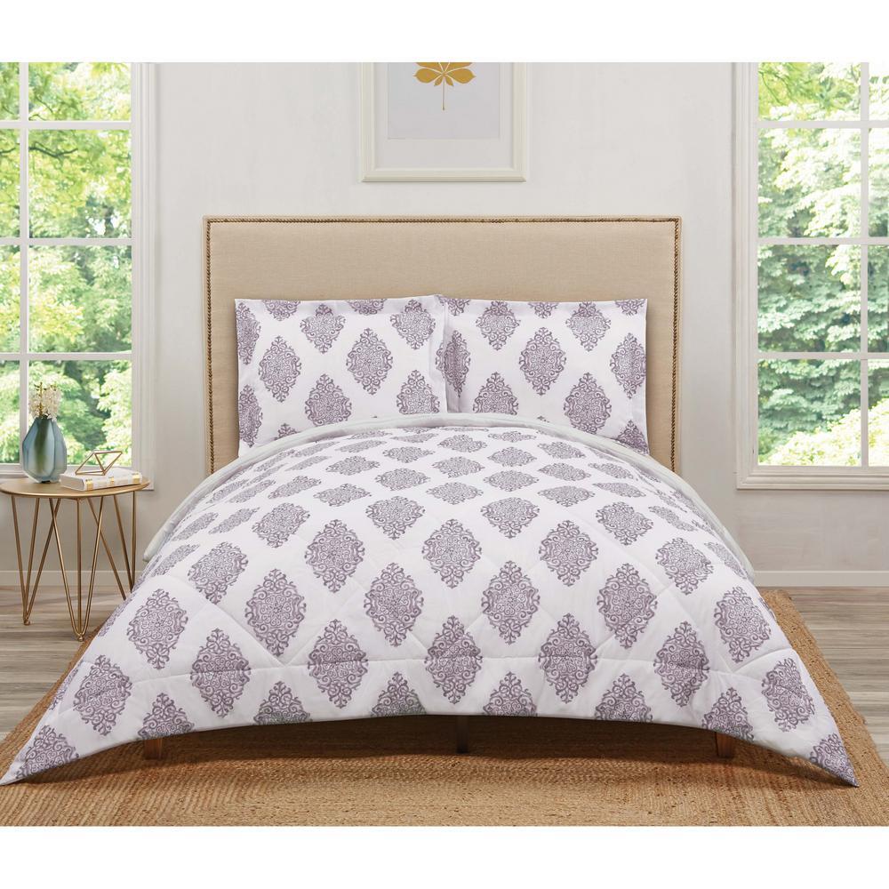 Annika Orchid King Comforter Set