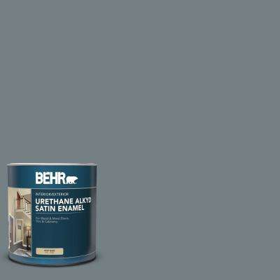 Behr 1 Qt Bnc 39 Peak Point Satin Enamel Urethane Alkyd Interior Exterior Paint 793004 The Home Depot