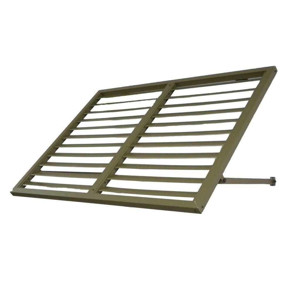 Beauty-Mark Awntech's 4 ft. Bahama Metal Shutter Awnings (56 in. W x 24 in. H x 24 in. D) in Olive