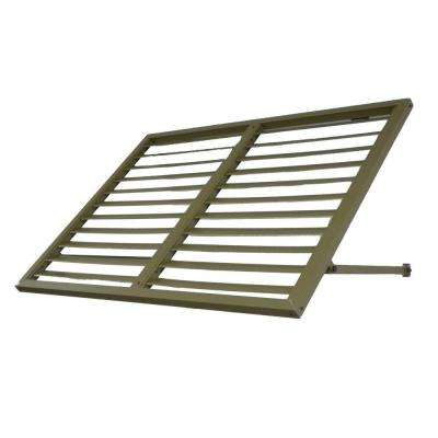 Awntech's 6 ft. Bahama Metal Shutter Awnings (80 in. W x 24 in. H x 24 in. D) in Olive