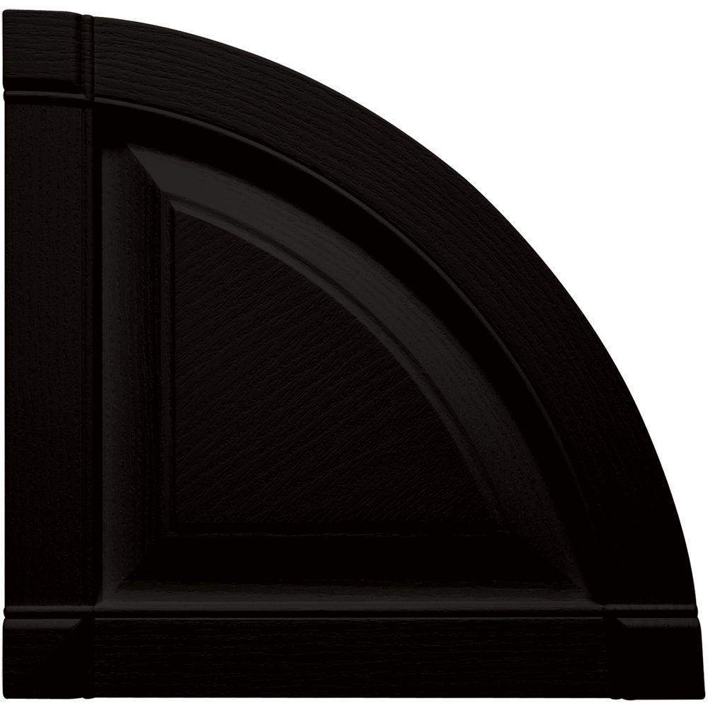 15 in. x 15 in. Raised Panel Design Black Quarter Round