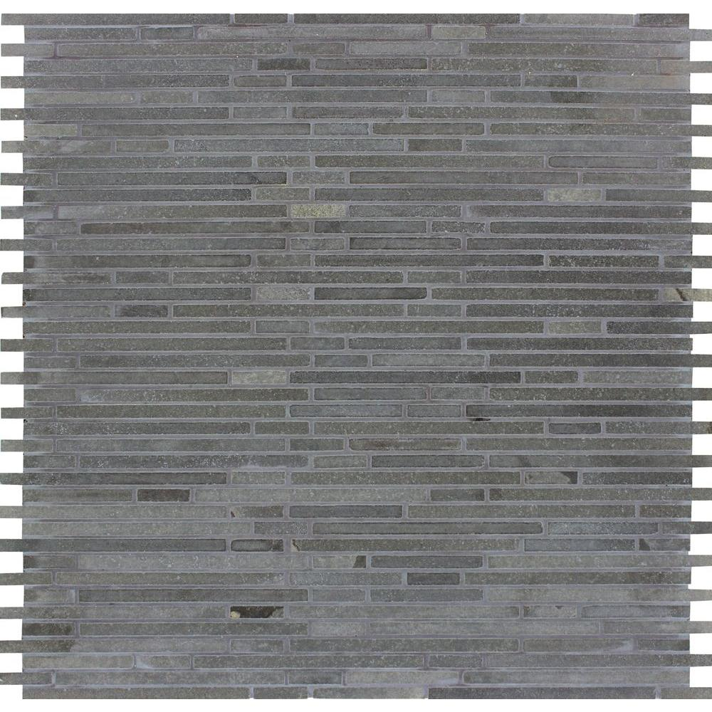 MSI Basalt Blue Bamboo 12 in. x 12 in. x 10mm Honed Mesh-Mounted Mosaic Tile (10 sq. ft. / case)