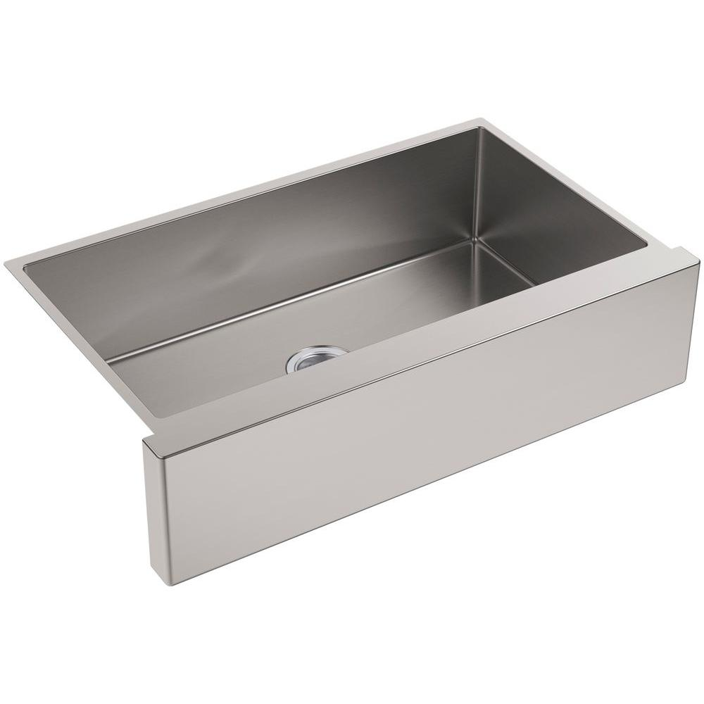 KOHLER Strive Undermount Farmhouse Apron Front Stainless Steel 36 In.  Single Bowl Kitchen Sink Kit K 5415 NA   The Home Depot