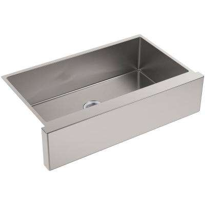 Strive Apron-Front Stainless Steel 36 in. Single Basin Kitchen Sink Kit