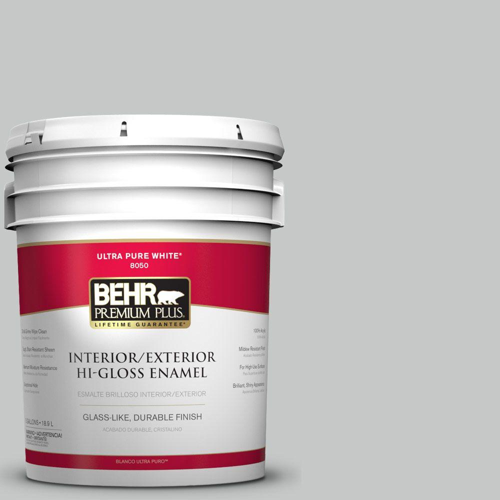 5-gal. #BNC-07 Frosted Silver Hi-Gloss Enamel Interior/Exterior Paint