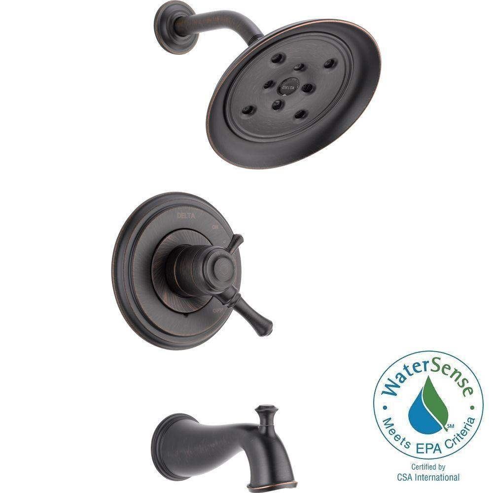 delta cassidy 1handle h2okinetic tub and shower faucet trim kit only in venetian bronze