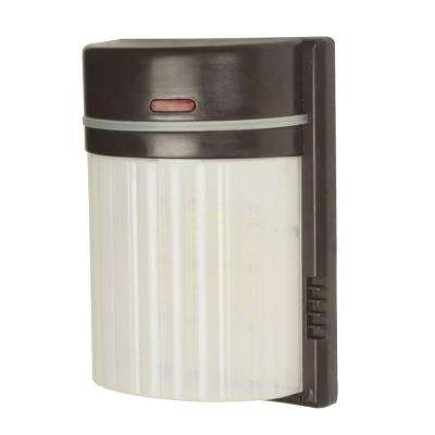 18-Watt Bronze Outdoor Integrated LED Security Light with Photocell