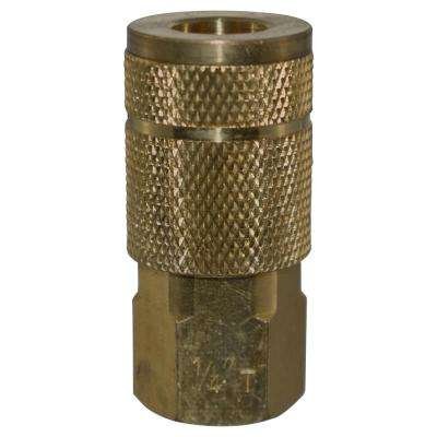 1/4 in. x 1/4 in. NPT Female Automotive Coupler