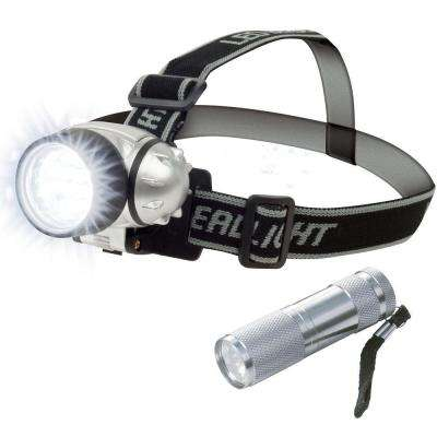 12 LED Head Lamp Plus 6 LED Flashlight Super Set