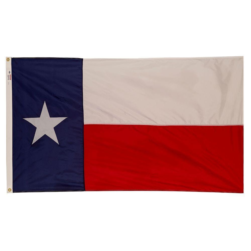 Valley Forge Flag 3 ft. x 5 ft. Nylon Texas State Flag