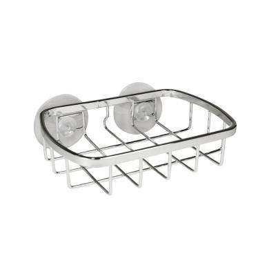 Suction Soap Dish in Chrome