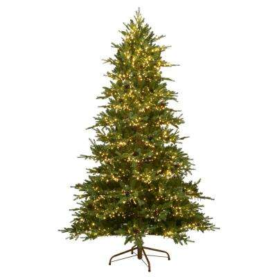 7.5 ft. Pre-Lit Rustic Spruce with Color-Changing LED Lights