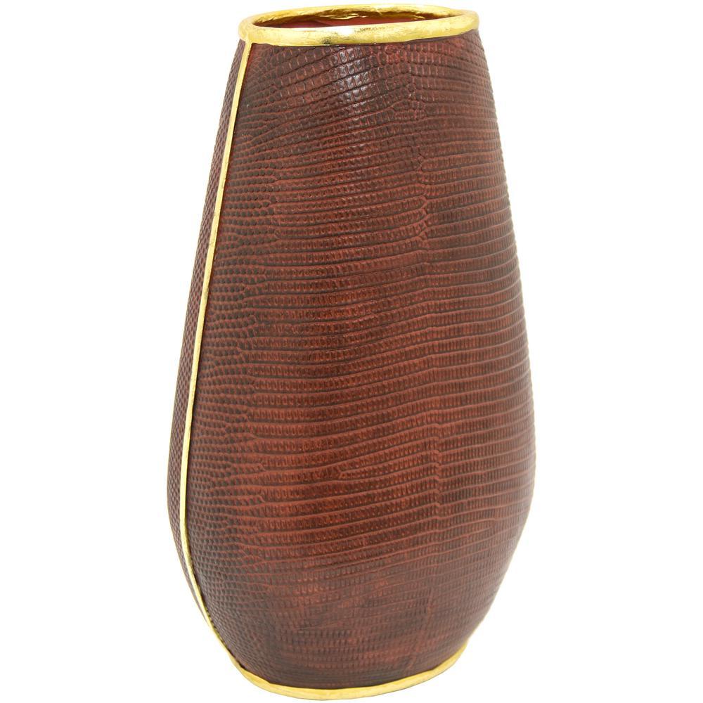 Red Resin Decorative Vase