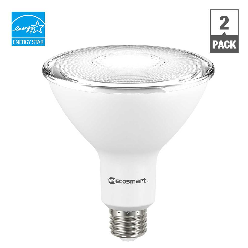 Ecosmart 90w Equivalent Bright White Par38 Dimmable Led Flood Light Bulb 2 Pack