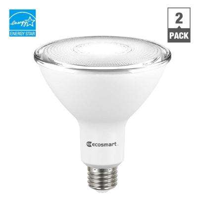 90W Equivalent Bright White PAR38 Dimmable LED Flood Light Bulb (2-Pack)