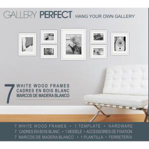 Pinnacle 7-Opening 4 in.x 6 inch Matted Picture Frame by Pinnacle