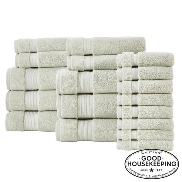 Egyptian Cotton 18-Piece Towel Set in Sage