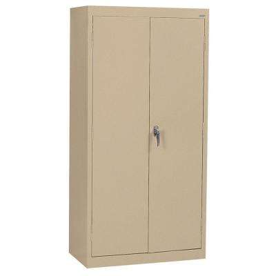 Classic Series 36 in. W x 78 in. H x 24 in. D Storage Cabinet with Adjustable Shelves in Tropic Sand