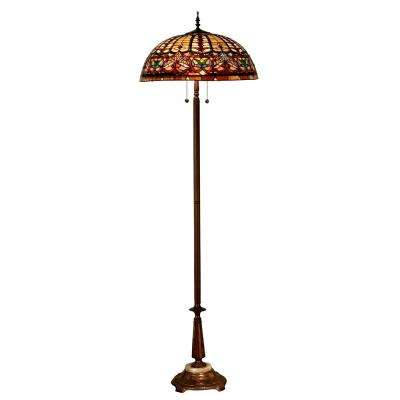Nowsoon 70 in. Antique Bronze Floor Lamp with Hand Rolled Art Glass Shade