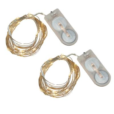 40-Light Mini Battery Operated Waterproof String Lights in Warm White (2-Count)