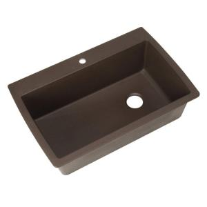 Blanco Diamond Dual Mount Granite Composite 33 inch 1-Hole Super Single Bowl Kitchen Sink in Cafe Brown by Blanco