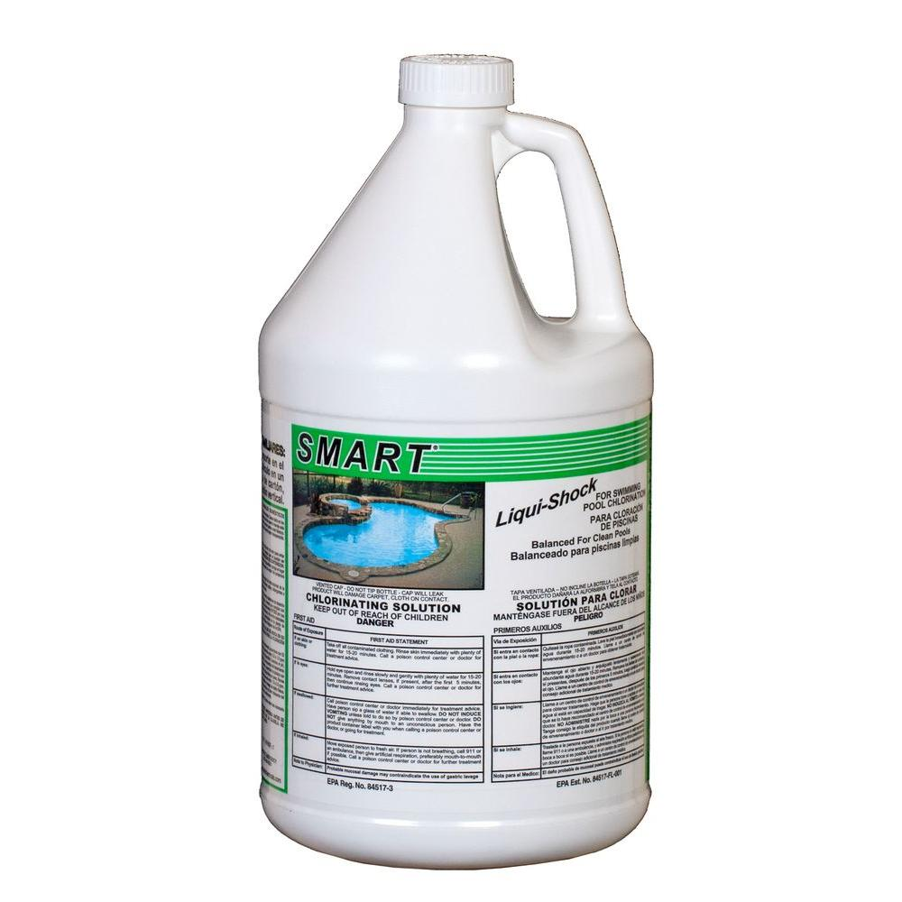 Smart 4x1 gal chlorinating solution 1120 hd the home depot for Putting shock in pool