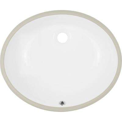 Belfast 19.25 in. Undermount Vanity Sink in White