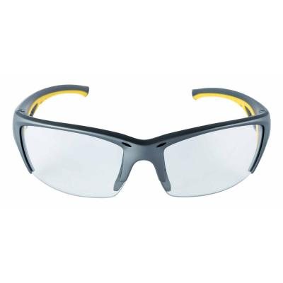 a6296c18e9 Safety Eyewear Glasses Gray Frame with Yellow Accent Clear Anti-Fog and
