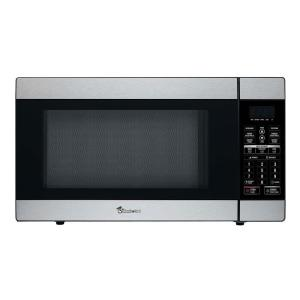 Magic Chef 1 8 Cu Ft Countertop Microwave In Stainless Steel Mcd1811st The Home Depot