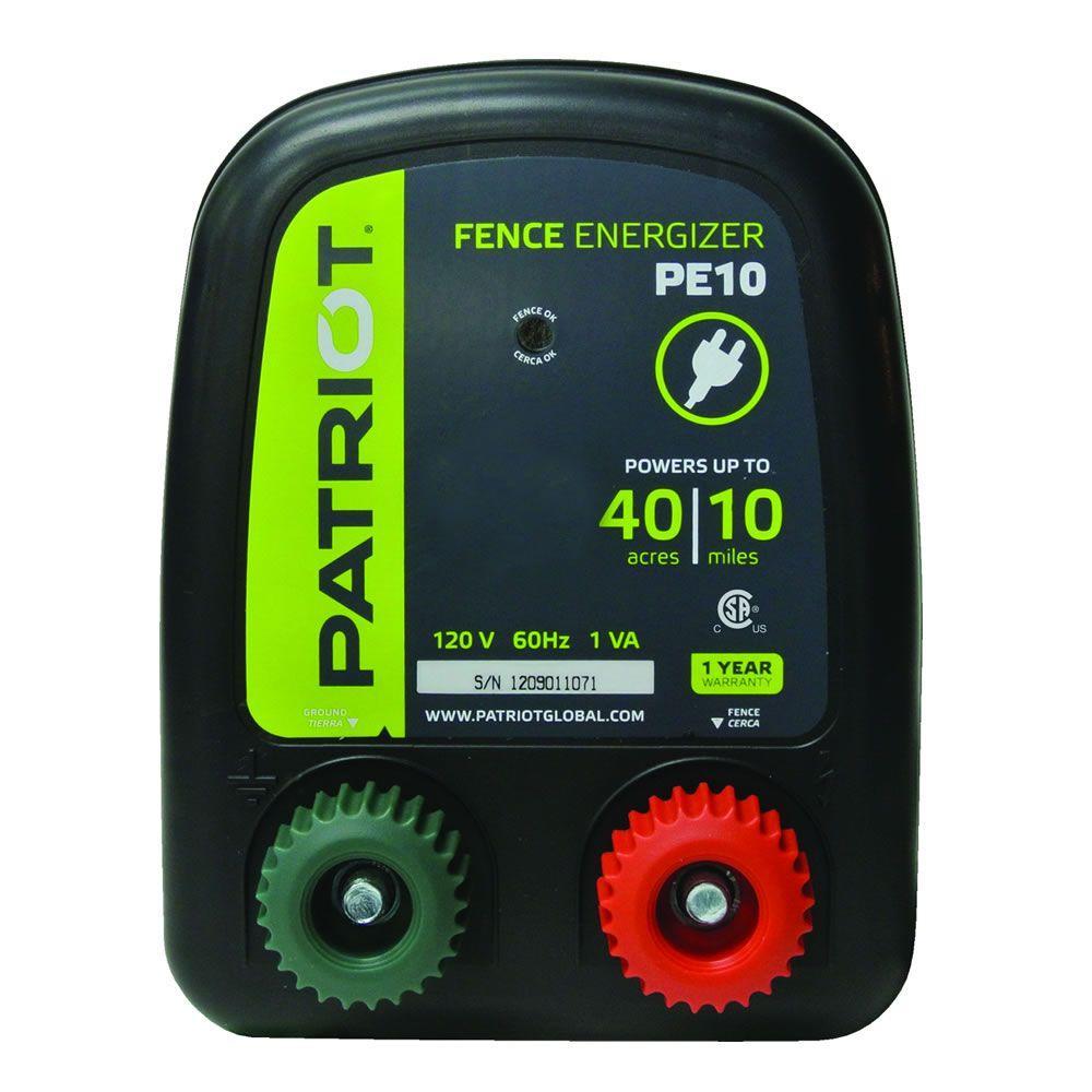 Patriot PE10 Fence Energizer - 0.30 Joule